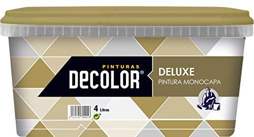 Pinturas Decolor 1475600018 Pintura interior mate ecológica, Naranja Medio, 4 litros