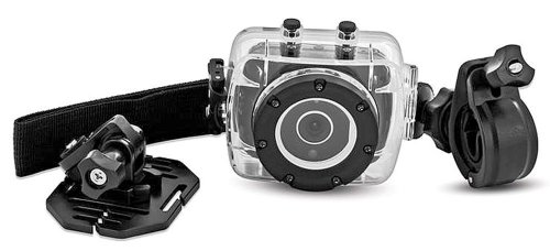 Sharper Image HD Action Cam SVC400 w/ Waterproof Case & Mounting Kit - 720P Digital Video, 5.0 MP, 4X Zoom, Lithium-Ion