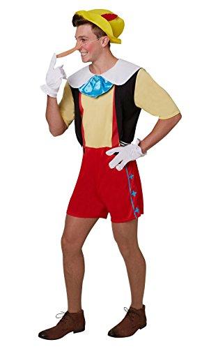 Rubies Disfraz de Pinocho para adultos, oficial XL