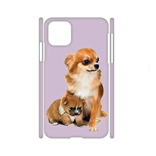 Generic Compatible For para Chico Cajas De Plástico Duro Interesante Impresión Chihuahua 2 Apple 6.1 Inch iPhone 12 Pro