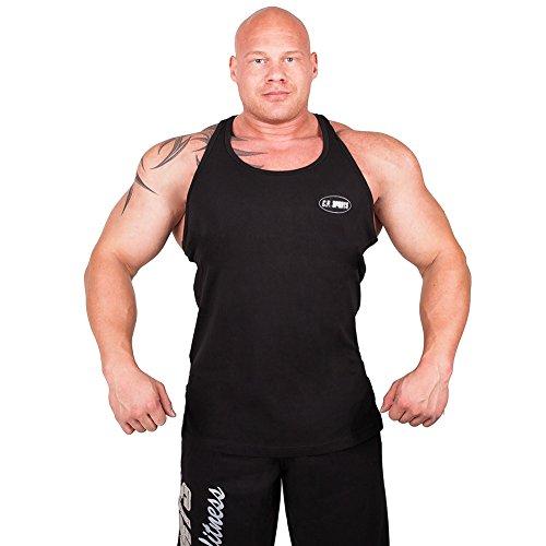 C.P.Sports Olympian Tank-Top S6 - Farbe: Schwarz Gr.XL, Bodybuilding & Kraftsport + Trainings T-Shirt