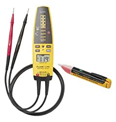 Fluke T+Pro-1AC Kit Electrical Tester and AC Voltage Detector Kit with a NIST-Traceable Calibration Certificate with Data