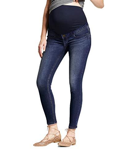 Hybrid & Company Super Comfy Stretch Women's Skinny Maternity Jeans PM5471GRSK Darkwash XL