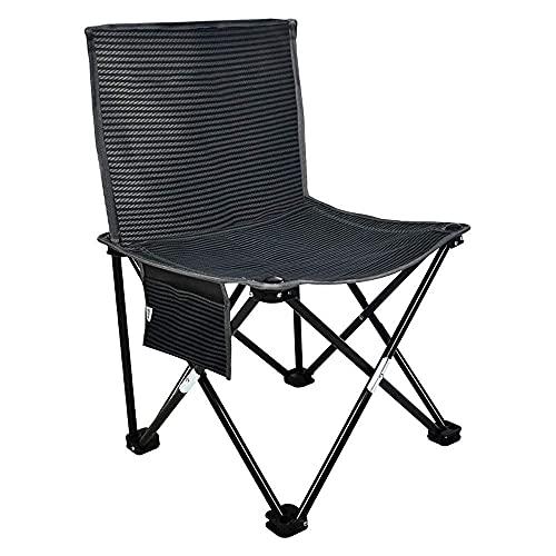 KUYH Silla de camping ligera, portátil y cómoda, silla plegable multifuncional, taburete para exteriores, pesca, senderismo, picnic, silla plegable