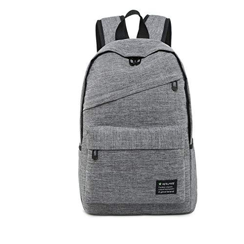 Hochwertiges Licht und schön Outdoor Casual Breathable Multifunktions-Notebook Tablet Rucksack (schwarz), einfache und kompakte Bauweise (Color : Grey)