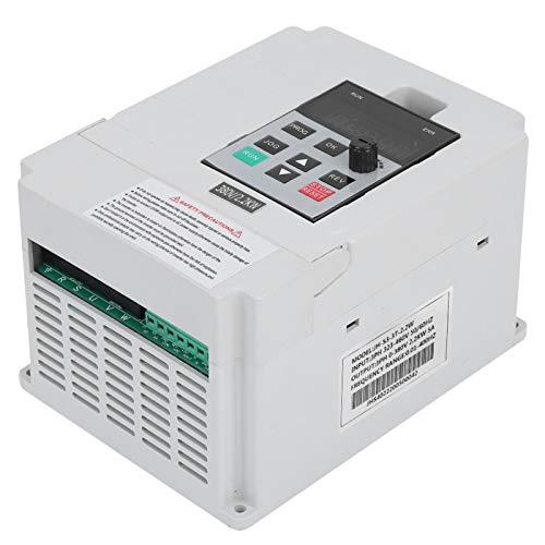 Dilwe Variador de Frecuencia VFD, Monofásico AC323-460V a Trifásico 0-380VAC Convertidor de Frecuencia Universal con Transmisión de Relé Multifunción, Adecuado para Máquinas Industriales Coche(2.2KW) ✅