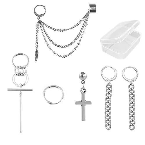 PPX 6 piezas Kpop Bangtan Boy Album Jimin Chain Drop Earrings Joyería de moda...