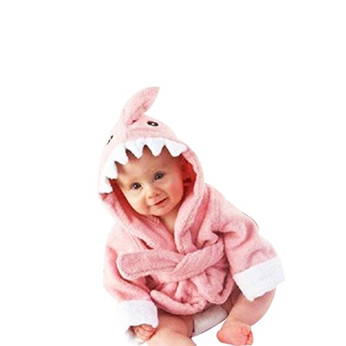 Kinder Bademäntel Baby Cotton Animal Bade Strickjacke Cardigan Nightgown Spa Handtuch Strandtuch (Löwe) (Dinosaur, S)