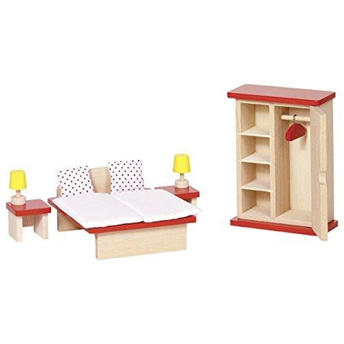 Goki 51715 Puppenmöbel Schlafzimmer, Basic