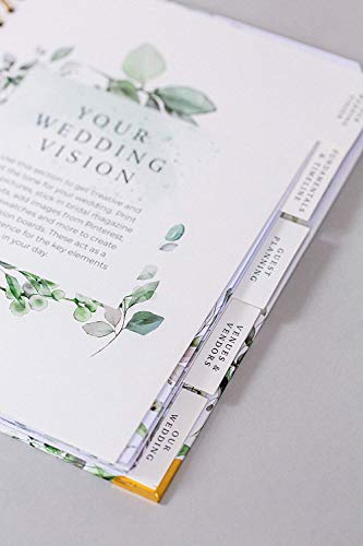 Product Image 3: Wedding Planner & Organizer – Floral Gold Edition – Diary Engagement Gift Book & Calendar