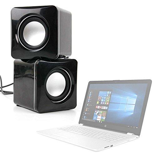 DURAGADGET Altavoces Compactos para Portátil HP 15-bs040ns, HP 15-bs073ng, HP 15-bs570ng, HP 15-bs571ng, HP 15-cb070ng - Tamaño Mini - Conexión Mini Jack + USB