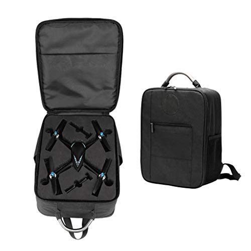 QTJUST Anti-Shock Waterproof Oxford Cloth Backpack Storage Carrying Bag for MJX Bugs 5W B5W Drone Quadcopter Accessories