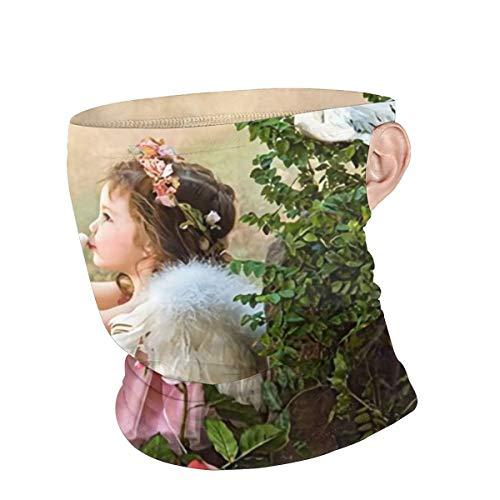 Peace Dove Angel Lovely Girl Garden Novelty Theme Windbreak Face Mask Scarf Bandana Ear Loops Face Balaclava Sports Neck Gaiters Outdoors Festival Gift Funny