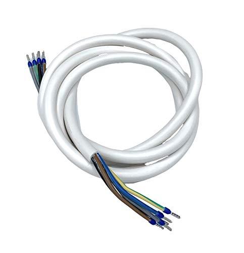 Herdanschlusskabel Herdanschlussleitung 5x2,5mm² / 5G2,5 für Kochfeld Backofen Herd - 1m-1,5m-2m-3m-5m-10m Anschlusskabel Anschlussleitung H05VV-F 400V, Größe: 5m