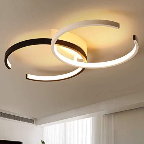 QJUZO Lámpara de Techo LED, 36W Luz de Techo Moderna Regulable con Mando a Distancia Lámpara de Sala Lámpara de Aluminio Lámpara de Vivero Lámpara de Comedor Lámpara de Dormitorio Lámpara de Salón