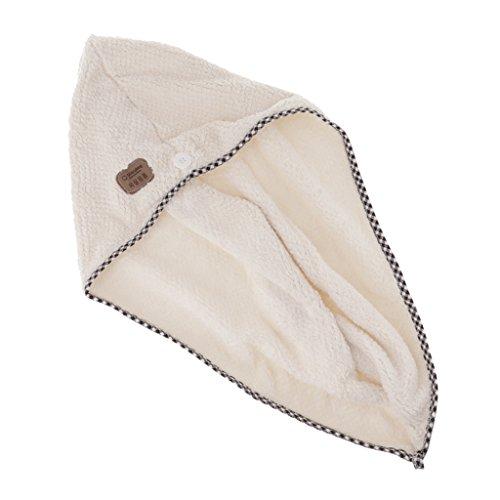 MERIGLARE Turban Dry Shower Enveloppement De Cheveux En Microfibre Spa De Séchage De Serviette - blanc