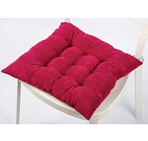 Alfombrilla para silla de pana YFAX, alfombrilla para oficina en casa, cojín para sofá para comedor, cojín para silla Tatami, alfombrilla gruesa para exteriores-red