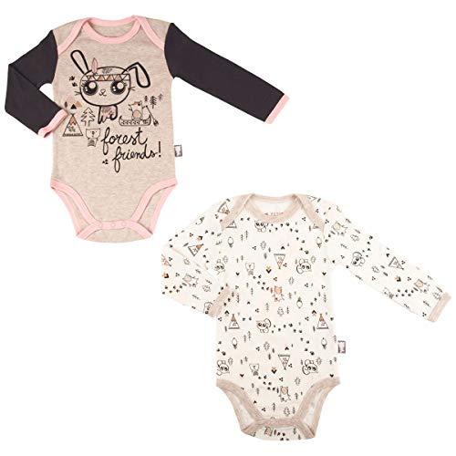 Petit Béguin - Lot de 2 bodies bébé fille manches longues Forest Friend - Taille - 18 mois