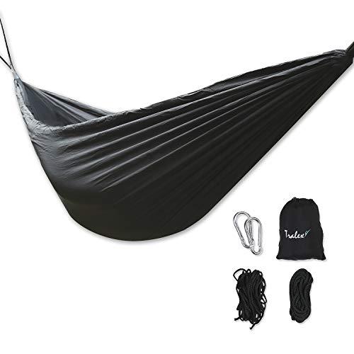 tralex Hamaca para exteriores con mosquitera para camping, senderismo, festival y demás – Ultraligera con 200 kg de carga – Incluye bolsa y accesorios