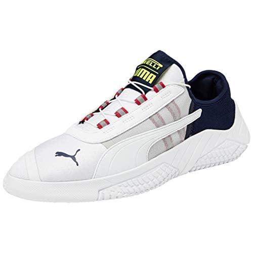 PUMA REPLICAT-X 1.8 PIRELLI, Sneakers Uomo, Bianco White/Peacoat/LIMEPUNCH, 44 EU