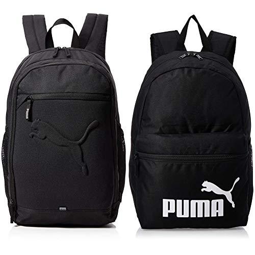 PUMA Rucksack Buzz Backpack, black, OSFA, 73581 01 & Unisex-Adult Phase Backpack rucksack, Black, OSFA