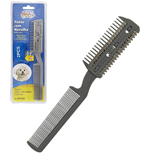 Comb with Razor For Dogs West Western Pet for Dogs