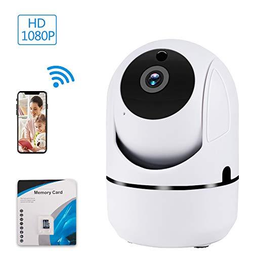 Meckily WLAN Überwachungskamera 1080P FHD WLAN IP Kamera mit Bewegungserkennung, Zwei-Wege Audio, Fernalarm und APP Steuerung,Kommt Mit Einer 32 GB SD-Karte Haustier/Home/Baby Monitor