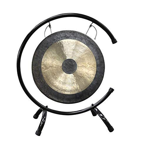 Tam Tam Gong Whood Chau Gong mit Ständern und Holz Beater Traditioneller Chinesischer Chau Gong Fengshui Gong (Size : 70cm/27.5inch)