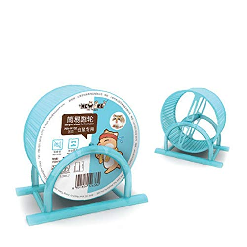1PC Hamster Wheel Pet Comfort Treadmill Running Wheels Hamster Exercise Wheel Silent Spinner Large and Easy Attach to Wire Cage for Small Animals(Blue)