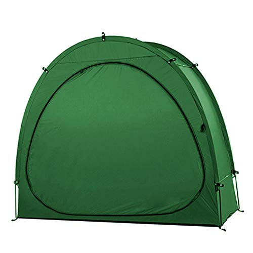 ZMIN Outdoor Bike Tent Bike Storage Shed 190T Bicycle Storage Shed with Window Design Outdoors Camping Tent(Green)