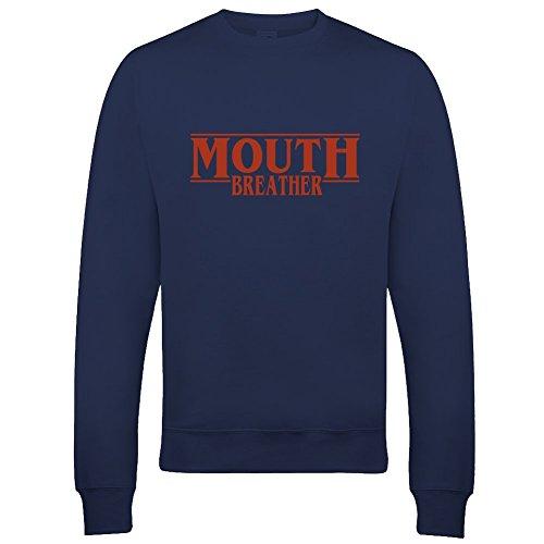 Mouth Breather- Sudadera con diseño retro de los años 80 Azul azul marino 7-8 Años