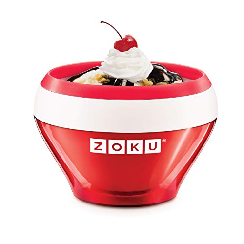 Zoku Ice Cream Maker, Compact Make and Serve Bowl with Stainless Steel Freezer Core Creates Soft...