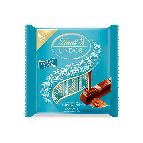 Lindt Lindor Stick, Multipack Caramel Salz, 4 x 25 g, 100 g