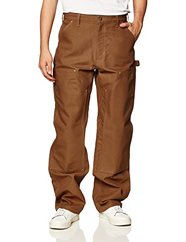 Carhartt Men's Loose Fit Firm Duck Double-Front Utility Work Pant-Carhartt Brown-46 x 32