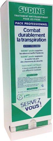 Sudine Poudre - Traitement anti transpiration - Distributeur de 100 sachets doubles