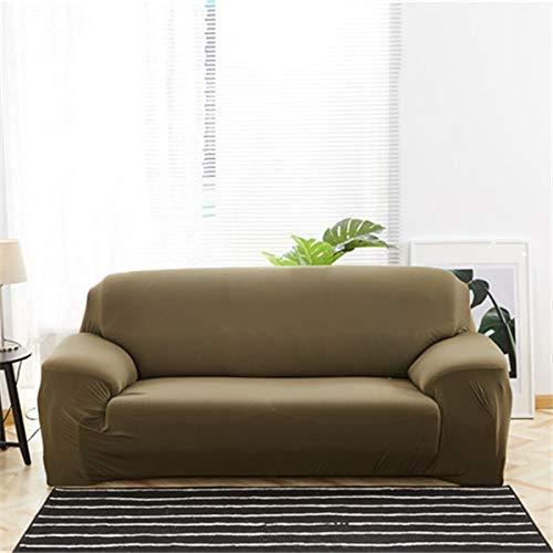 WXQY Funda de sofá elástica de Color sólido, Funda de sofá Antideslizante con Todo Incluido, protección para Mascotas, Funda de sofá de Esquina en Forma de L, A6, 3 plazas