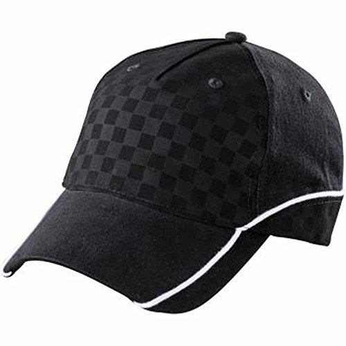 MYRTLE BEACH - Casquette racing style F1 tuning rallye sport auto - MB6560 (Noir et blanc)