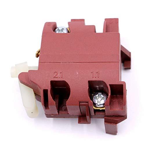 Ersatzschalter Ersatz Taste Schalter Switch für Winkelschleifer - Kompatibel mit Bosch PWS 650, PWS 10-125 CE, GWS 7-125, GWS 9-125 C