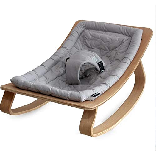 Mini Portable Newborn Wooden Baby Crib, Infant Toddler Bed Bassinet, Grey, Convertible, Furniture, Rocking Cradle, for Small Spaces, Changing,Very Easy to Assemble, (Mattress Not Included)