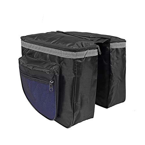 AINY Fahrradtaschen Gepäckträger Bike Back Pannier Fahrrad Gepäckträgertasche,Doppel Satteltasche Grosse Kapazität, Hinterradtasche Mit Mehrere Tasche,Blau