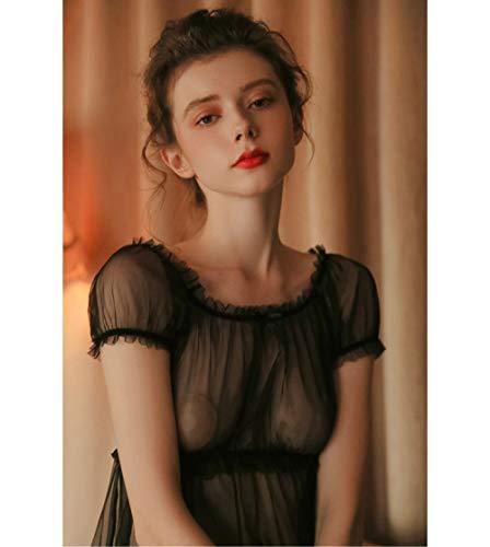 XUHRA Zomer pyjama's, pyjama's dames zomer dunne transparante tops gaas aantrekkelijke huiskleding vrouwen pyjamaset