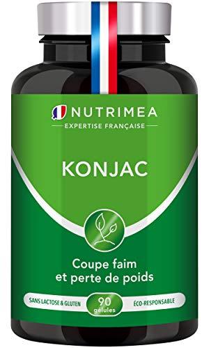 PUR KONJAC - 95% glucomannanes - Coupe faim 100% naturel - Complément alimentaire minceur et perte de poids - Detox - Régulation du transit et du taux de sucre - 90 gélules vegan - Fabriqué en France