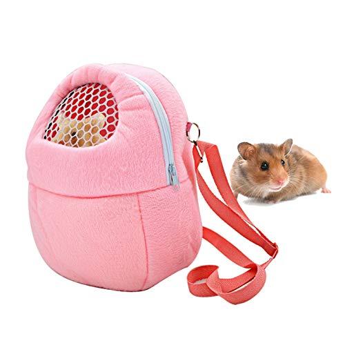 Entweg ペットキャリーバッグ、ペットキャリアバッグ通気性ポータブル発信トラベルハンドバッグポーチ、小さなペット用の調節可能な取り外し可能なストラップ付きハリネズミハムスターモルモット