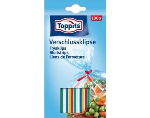 5 x Toppits® Verschluss - Klipse (100 Stück/Gefriersicher bis -40°C)