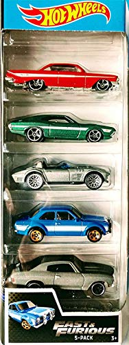 Hot Wheels 2019 Fast and Furious 5-Pack (1961 Impala, 1972 Gran Torino Sport, Corvette Grand Sport Roadster, 1970 Ford Escort RS1600, 1070 Chevelle SS)
