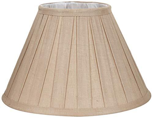 Better & Best 30 cm Lampenschirm aus Seide, rund, Breite, 30 cm, mit beweglicher Kupplung, Farbe Beige, Maße 30 x 30 x 17,5 cm