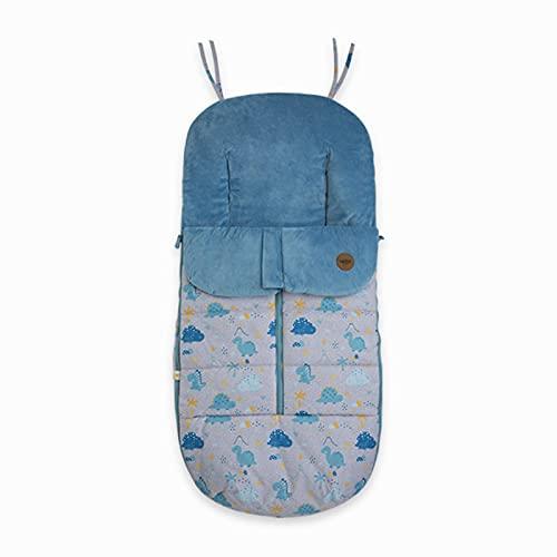 Saco universal de invierno Tuc tuc Basic Hello Dino para Silla de paseo azul