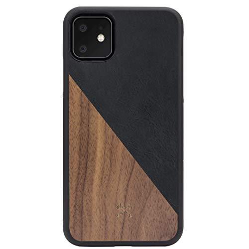 Woodcessories - Hülle kompatibel mit iPhone 11 aus Echtholz - EcoSplit Case 2.0 (Walnuss/Schwarz)