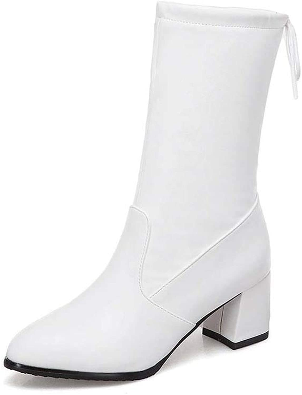 Women's Boots Sleek Minimalist Thick with High Heel 34-43 Large Size in The Tube Set Foot Women's Boots