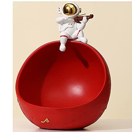 Bol De Rangement D'astronaute,25 X 18 Cm Résine Avec Ouverture Pour Rangement De Bonbons, Maison, Porche, Bureau,Figurine Statue Astronaute Statue En Résine Uniques Faits À Main ( Color : Style 7 )